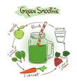 Sketch Green smoothie recipe vector image