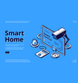 smart home and artificial intelligence technology vector image vector image