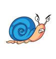 snail cartoon character isolated cute snail vector image