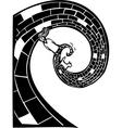 Spiral Road vector image vector image