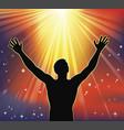 spiritual joy vector image vector image