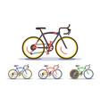 sport bike set vector image
