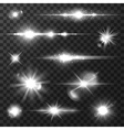 Sun light lens flare shining star for art design vector image vector image