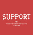 support font alphabet vector image vector image
