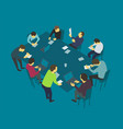 table talks team business people meeting vector image vector image