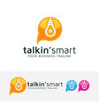 talking smart logo design vector image