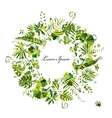 Tropical plants frame sketch for your design vector image vector image