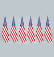 united states hanging flag on stand politic vector image vector image