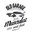 vintage muscle car logo vector image vector image
