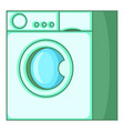 washing machine icon cartoon style vector image vector image