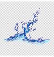 water splash hand drawn color sketch vector image