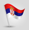 waving simple triangle serbian flag vector image vector image