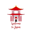 Welcome to Japan with Kokeshi Doll vector image