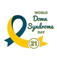 World Down Syndrome day greeting emblem