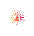 yoga share logo icon design vector image