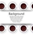 Abstract background from cups of coffee in vector image