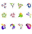 12 colorful symbols set 15 vector image vector image