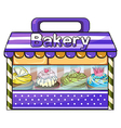 A bakery with lots of goods vector image vector image