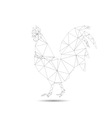 Abstract cock vector image vector image
