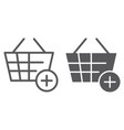 add to bucket line and glyph icon internet and vector image vector image