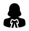 attorney icon female user person profile avatar vector image