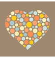 Background with heart Love symbol vector image vector image