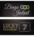 bingo chalkboard banners vector image vector image