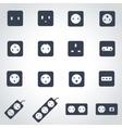 black power socket icon set vector image