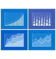 business chart information vector image vector image