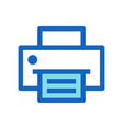 business printer filled line icon blue color vector image vector image