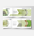 business templates tri fold brochures square vector image vector image
