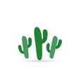 cactus color flat icon vector image vector image