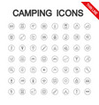 camping set icon editable thin line vector image