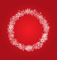 christmas frame with white snowflakes vector image vector image