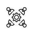 collaboration line icon vector image