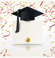 congratulatory background on graduation vector image vector image