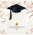 congratulatory background on graduation vector image vector image