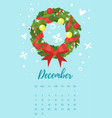 december 2018 year calendar page vector image