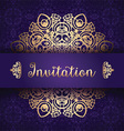 decorative invitation background 1006 vector image vector image