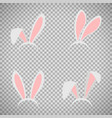 easter bunny ears mask set vector image vector image