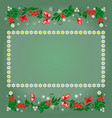 elements of the pattern and frame of flowers vector image vector image