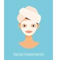 Facial treatments vector image vector image