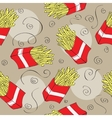 Fast food seamless pattern background vector image vector image