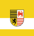 flag of elbe-elster in brandenburg germany vector image