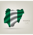 flag of Nigeria as the country vector image vector image