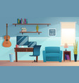 freelance interior working place student vector image vector image