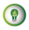green circular frame with eco light bulb vector image vector image