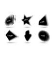 halftone circle dots perspective logo emblem set vector image