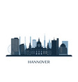 hannover skyline monochrome silhouette vector image vector image