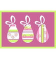 Holiday gift egg in color 11 vector image vector image
